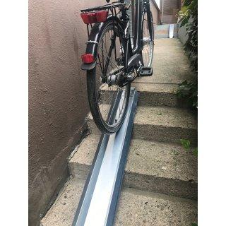 Variabel einstellbare Fahrradrampe, E-Bike  Treppenrampe von 60 - 365/500 cm Länge