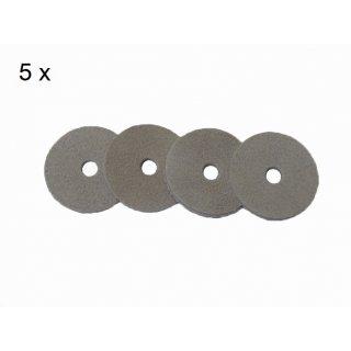 Viscose Profi ® 5er Pack Kolbendichtungssätze für Edelstahl Mörtelspritzen Modelle 500(300)/40 NU