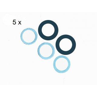 Viscose Profi ® 5er Pack Kolbendichtungssätze  für Kunststoffspritze Modell 500/40 KU+KU-Q