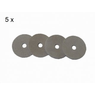 Viscose Profi ® 5er Pack Kolbendichtungssätze für Edelstahl Mörtelspritzen Modelle 500(300)/50 NU, NU-D.